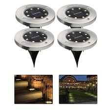 nicee solar path lights solar powered ground lights waterproof led solar path lights
