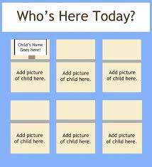 Whos Here Today Chart How To Help Preschoolers Recognize Their Names Teach Junkie