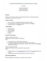 Receptionist Job Resume Receptionist Job Skills Zoro Blaszczak Co Hotel Resume Sample 82