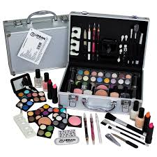 60 piece urban beauty travel cosmetic vanity case make up gift set train box nails eyes max factor