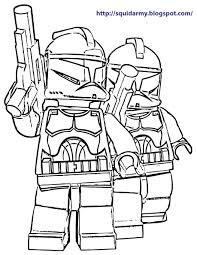 Small Picture Lego star wars coloring page