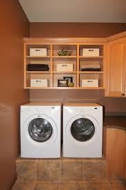 ... Cool Photos Ideas To Design A Utility Room : Splendid Wooden Nuance  Laundry Room With Hanging ...