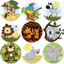 Details About 144 Wild Safari Animals Themed Reward Stickers Teachers Parents Size 30mm