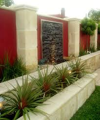 Small Picture Outdoor Wall Water Features Limestone planters garden wall and