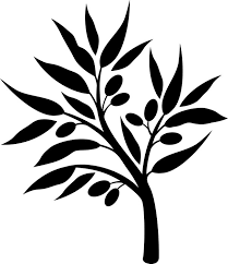 olive tree silhouette wall decal trees
