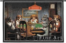 dogs playing cards tapestry wall hanging a friend in need original famous classic dogs