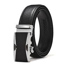leather belts for men black ratchet genuine leather dress belt with automatic buckle fit 20