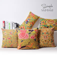 oriental throw pillows. Perfect Pillows Oriental Chinese Cushion Covers Yellow Decorative Floral Throw Pillow Case  Lumbar Car Couch Lucky Decor 30x50 45x45in Cover From Home  On Pillows M