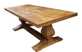 round trestle dining table reclaimed wood trestle table custom made reclaimed wood trestle dining table salvaged