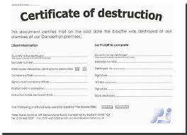 Letter Of Destruction Template 21 Images Of Records Destruction Log