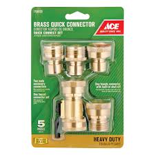 garden hose fittings. Ace Brass Quick Connector Hose Set Threaded(GT3450) - Hardware Garden Fittings E