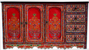mexican painted furniturePainted furniture moroccan red buffet morccan painted cabinet