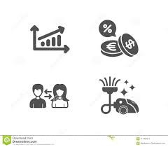 Chart People Communication And Currency Exchange Icons