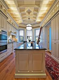 Extraordinary Coffered Ceiling Designs : Stunning Coffered Ceiling Designs  With Classic Chandelier