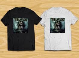 Tesla Compression Shirt Size Chart Tesla Forever More Metal Rock Band Legend Men S Black White T Shirt Xs To 3xl