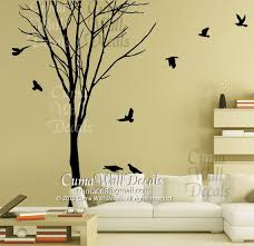 amazing perfect wall decal birds stickers branch of tree adorable vinyl material premium high quality international unique white contemporary