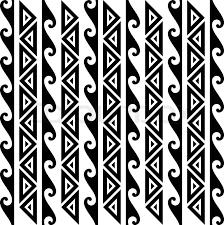 Hawaiian Pattern Fascinating Seamless Kakau Hawaiian Wave Pattern Tattoo In Black Stock Vector