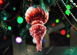 Ice Icicle Lights Red Icicle With Pieces Of Ice Christmas Tree Decoration Hanging