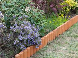 wood for edging garden beds planting flowerbeds borders choosing treated border ideas using medium