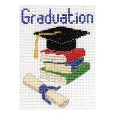 Graduation Cross Stitch Kit Amazon Co Uk Kitchen Home