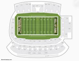 Vanderbilt Football Stadium Virtual Seating Chart Tom Benson Hall Of Fame Stadium Seating Chart Seating Charts