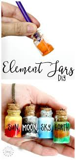diy sun moon earth and sky in these fun element jar necklaces