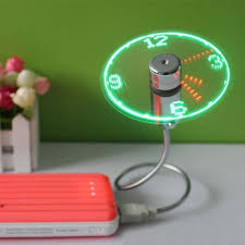 Mini Flexible Led Light Hot Item Usb Gadget Mini Flexible Led Light Usb Fan Time Clock Desktop Clock Cool Gadget Time Display For Notebook Laptop Flexible