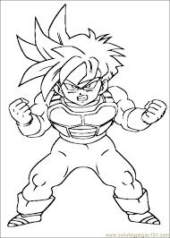 Small Picture Printable Dragon Ball Z Coloring Pages fablesfromthefriendscom