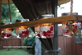 rustic hanging chandelier mason jar hanger candle whichkrafters