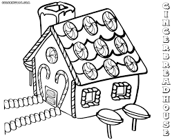 Coloring Pages Gingerbread Houseg Pages Elegant Page For Line