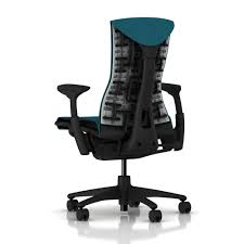 office chairs herman miller. Brilliant Miller Herman Miller Embody Chair Graphite Frame U0026 Base Blue Teal Mercer Fabric Throughout Office Chairs I