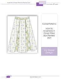 Pleated Skirt Pattern Stunning How To Assemble MultiPanel BoxPleated Skirt With Underlay PDF