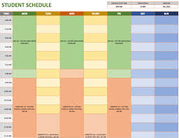schedule plan template free weekly schedule templates for excel smartsheet