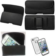 for iphone 7 plus l belt clip leather holster fits a lifeproof case on phone