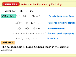 solve the cubic equation by factoring out gcf first jennarocca