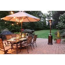 7 foot patio umbrella inspirational 7 ft steel umbrella patio heater in hammered bronze han001br of