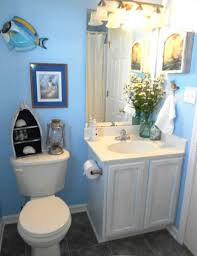 Bathroom Fish Decor Bathroom Simple Blue Beach Bathroom Design Come With White