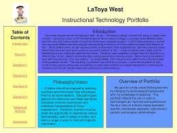 Instructional Technology Portfolio Ppt Download