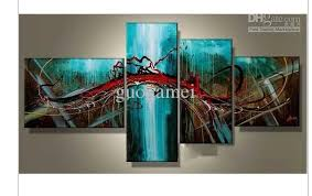4 piece wall art painting