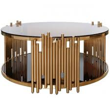 lo rose gold coffee table