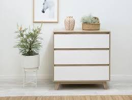 Jesse <b>Three Drawer</b> - Modern Bedroom Drawers | Mocka AU