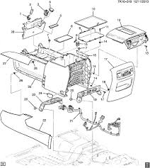 22884620 gm diagram suburban tahoe sierra 1500 center console assembly diagram