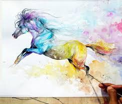horsing clipart watercolor 95806211