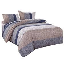 fashion new colorful pattern bedding sets duvet quilt cover pillowcases bed sheets set beds cover no comforter size single double king grey 4 sets