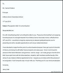 Awesome Collection Of Resignation Letter Sample For Teaching Job