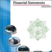 Financial Report Cover Page Paper Design Design