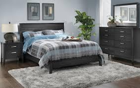 yorkville piece queen bedroom set  charcoal  leon's