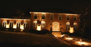 lighting for house. House Lighting Ideas. Colonial Style With Brick Front Illuminated Low Voltage Landscape Lights For