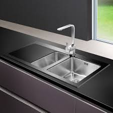 Black Kitchen Sink Astini Celso 15 Bowl Black Glass Kitchen Sink As103blkl Astini