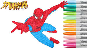 Spiderman brotherhood coloring pages | spiderman brotherhood coloring pages with colored markers happy viewing friends ! Spiderman Coloring Book Marvel Superhero Colouring Pages Episode 2 Youtube